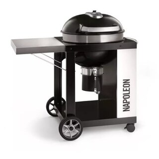 Napoleon PRO22-CART-2 Rodeo Pro 45 Inch Diameter Charcoal Free Standing Grill with Cart