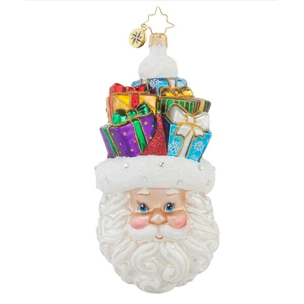 Christopher Radko Glass Gifts on my Mind Santa Claus Christmas Ornament #1017639 - RED