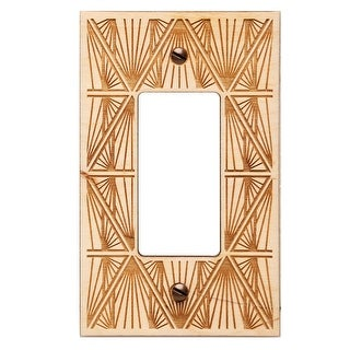 Engraved Wooden Light Switch Plate Cover - Rocker - Church