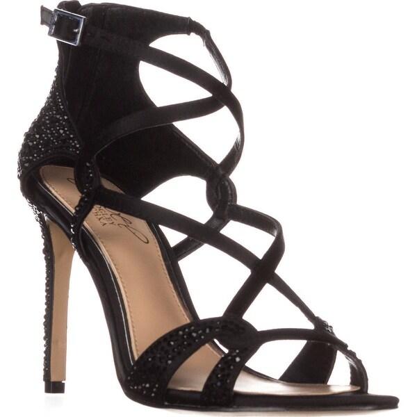 Jewel Badgley Mischka Aliza II Dress Heeled Sandals, Black - 5.5 us