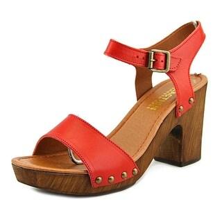 Kenneth Cole Reaction Log Set Open Toe Leather Sandals