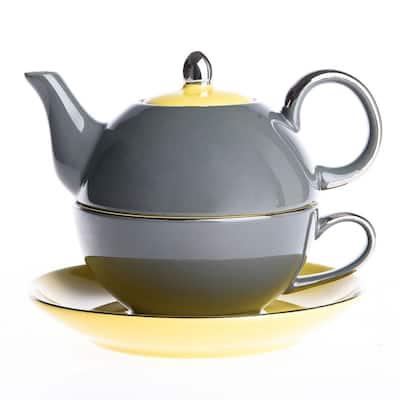 Artvigor Porcelain Teapot Set with Saucer Teacup Set