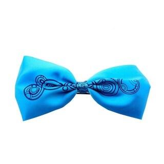 Doctor Who Gallifreyan Print Hair Bow Barrette - Blue