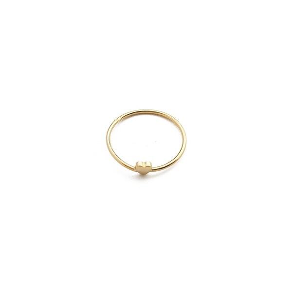 Honeycat Tiny Heart Ring (Delicate Jewelry)