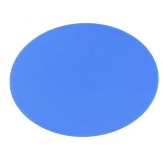 Unique Bargains Home Blue Round Antislip Silicone Mouse Pad Mat for Laptop PC Computer