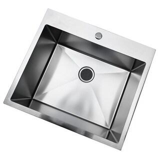 33 Inch Kitchen Sink Drop-in Topmount Single Bowl Sink