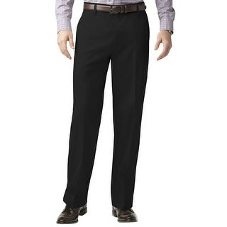 Dockers Premium Relaxed Fit Flat Front Chinos Pants Black Solid 40 x 30