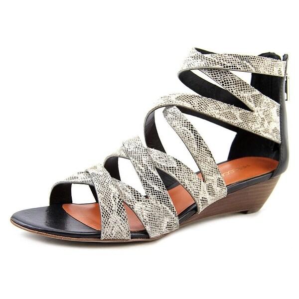 Rebecca Minkoff Bonnie   Open Toe Leather  Wedge Sandal
