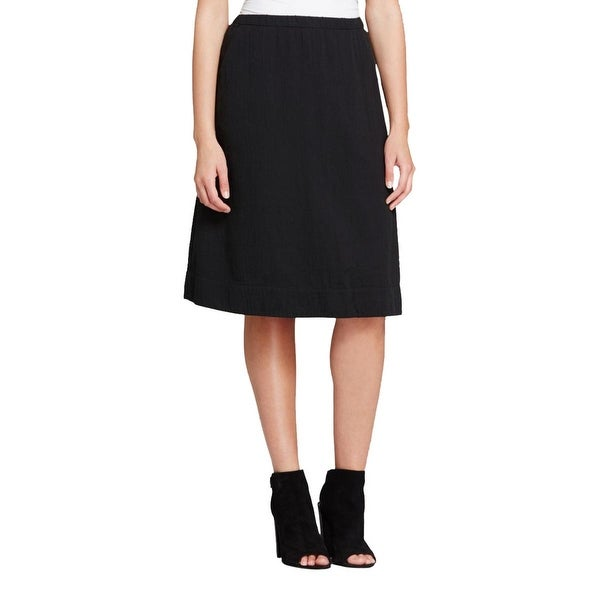 Eileen Fisher Womens A-Line Skirt Gathered Pull On