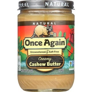 Once Again - No Salt Cashew Butter ( 12 - 16 OZ)