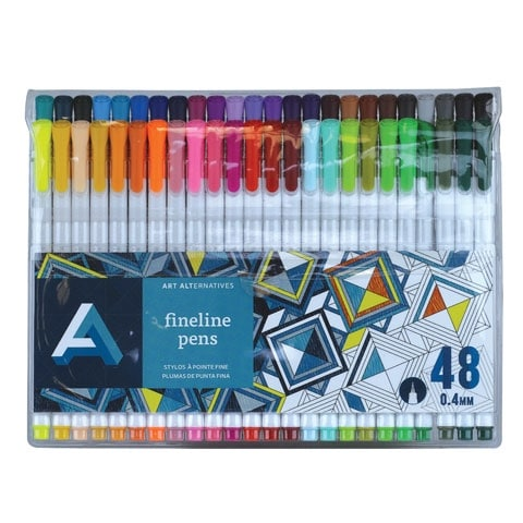 Art Alternatives - Fineline Pen Set - 48-Color Set