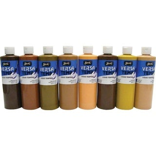 Sax Versatemp Heavy-Bodied Multicultural Tempera Paint, Assorted Colors, Set of 8