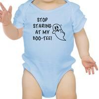 Stop Staring At My Boo-Tee Halloween Custom Baby Bodysuit Bodysuit