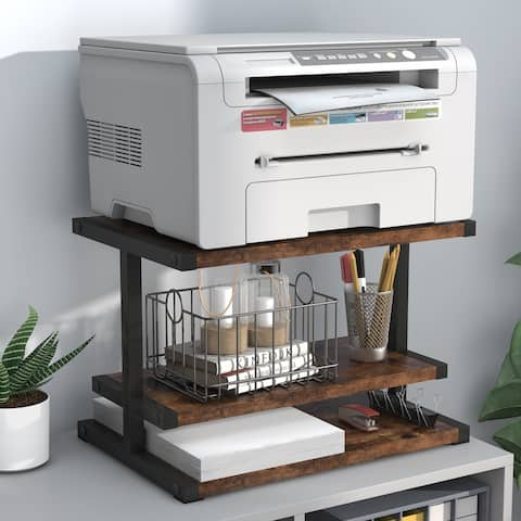 3-Tier Desktop Printer Stand, Paper Organizer, Multifunctional Book Shelf, Storage Shelf