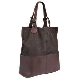 HS5254 TP ZOE  Leather Shopper/Tote Bag - Taupe - 14.5-15-6