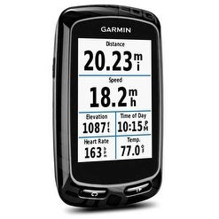 Refurbished Garmin Edge 810 GPS-Enabled Bike Computer Compatible w/ Heart Rate Monitor, Speed & Cadence Sensor