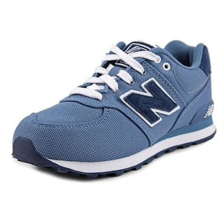 New Balance KL574 Youth Round Toe Canvas Blue Sneakers