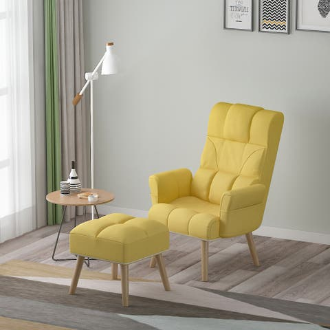 Adjustable Height Lounge Chair and Ottoman