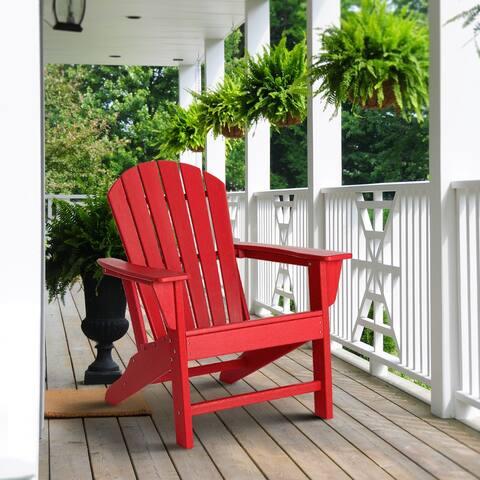 """Elm Plus 38""""H High Density Polyethylene Adirondack Chair"""