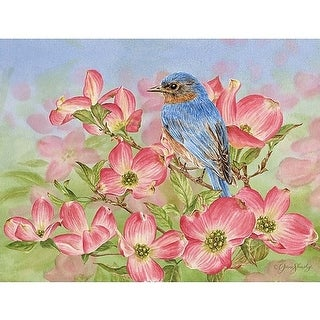 Bluebird of Happiness 5.25 In x 4 In Blank Boxed Note, Lang Folk Art by Lang Co