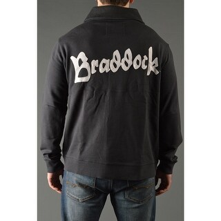 Roots of Fight James Braddock Throwback Button-Front Cardigan Jacket - Black (Option: Xl)