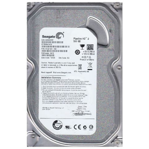 "Seagate Pipeline HD.2 500GB 5.9K RPM 3.5"" SATA(Refurbished)"