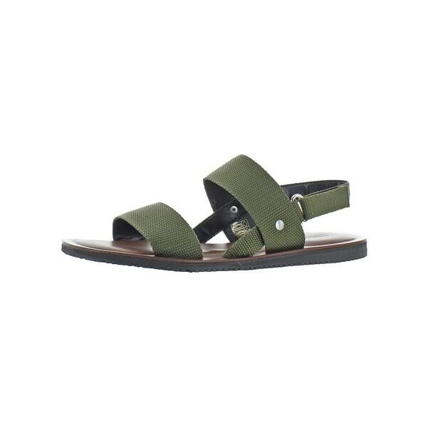 f1f6527e5b278b Shop Donald J. Pliner Mens Sadler Slingback Sandals Canvas Flat ...