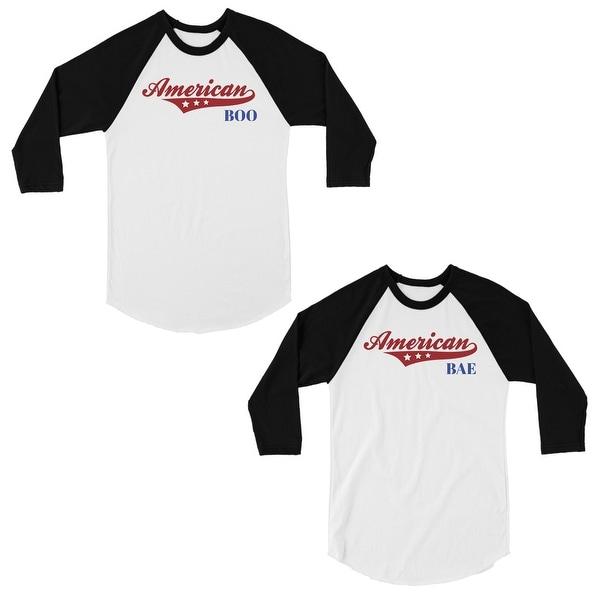 Shop American Boo Bae Matching Couples Baseball Shirts Cute Wedding