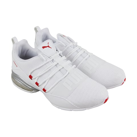 461de4993ad Puma Cell Regulate Sl Mens White Leather Athletic Lace Up Running Shoes