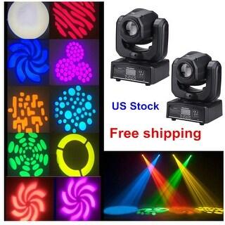 2x Mini Moving Head Spot Light RGBW LED DMX DJ Club Show Party Stage Light 10CH