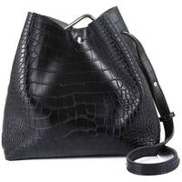 Mad Style Black Gator Clip Satchel