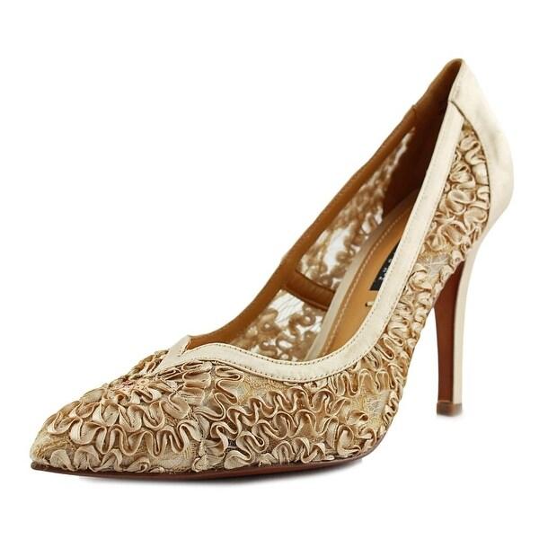 Kay Unger Sardana Pointed Toe Canvas Heels