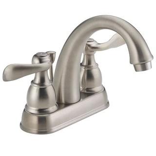Delta Faucet B2596LF-SS Two Handle Centerset Lavatory Faucet