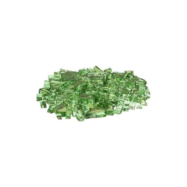 AZ Patio Heaters RGLASS-2-RGRN Reflective Fire Pit Fire Glass in Green, 20lbs - Green