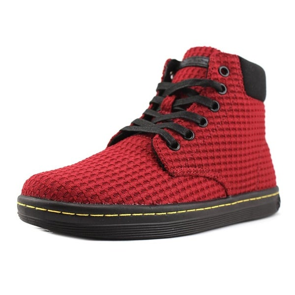Dr. Martens Maelly Women Round Toe Canvas Red Chukka Boot