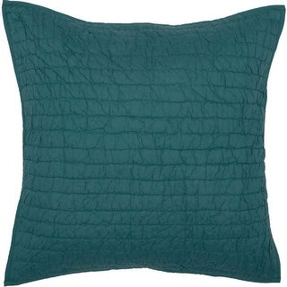 """Bella Taylor Home VHC Brands Rochelle Quilted Euro Sham 26""""x26"""", Aegean Blue"""