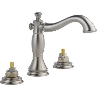 Delta 3597LF-MPU-LHP  Cassidy Widespread Bathroom Faucet with Pop-Up Drain Assembly - Handles Sold Separately