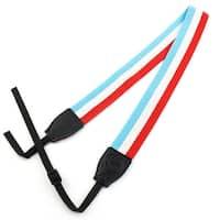 SHETU Authorized Camera Anti-slip Shoulder Neck Strap Belt Sky Blue Red for SLR