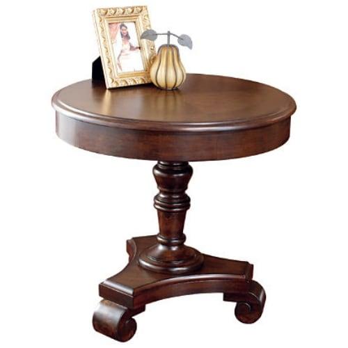 Ashley Brookfield Round Coffee Table In Dark Brown: Ashley T496-6 Brookfield Dark Brown Round End Table W