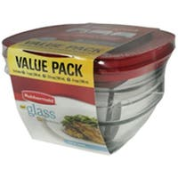 Rubbermaid 2856010 Container Food Storage Glass - 6 Pieces