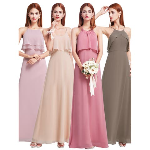 9d944485fd4 Ever-Pretty Women s Chiffon Evening Prom Wedding Party Bridesmaid Dress  07129