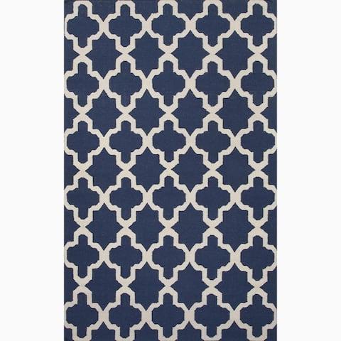 Handmade Flat Weave Geometric Rug