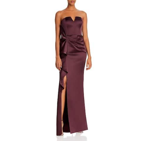 Aidan Mattox Womens Evening Dress Satin Strapless