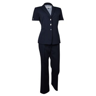 Tahari by ASL Women's Newport Nautical Pinstripe Pant Suit