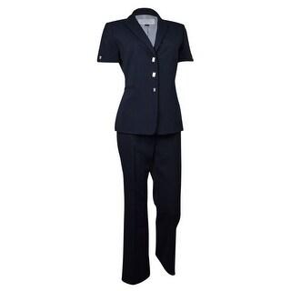 Tahari by ASL Women's Newport Nautical Pinstripe Pant Suit