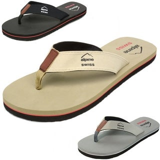 Link to Alpine Swiss Mens Flip Flops Beach Sandals Similar Items in Women's Shoes