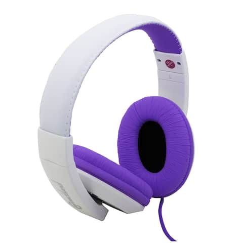 Connectland CL-AUD63032 Over-The-Ear Stereo Wired Headphone, Purple