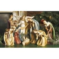 8-Piece Joseph's Studio Religious Ceramic Christmas Nativity Set - multi