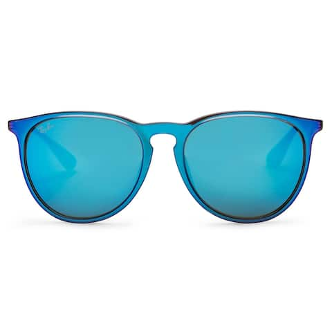 Ray-Ban Erika Color Mix Sunglasses (Blue and Silver/Blue Mirror)