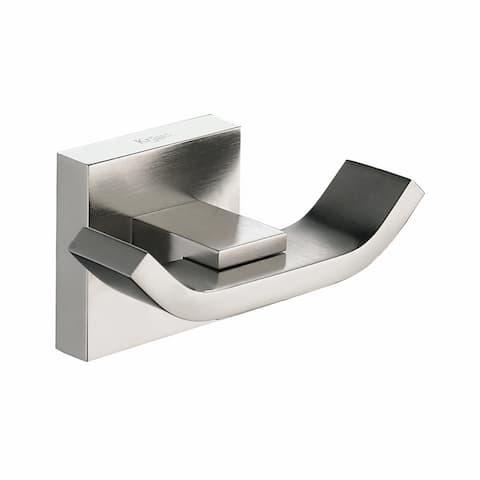 KRAUS Aura Bathroom Double Hook in Brushed Nickel